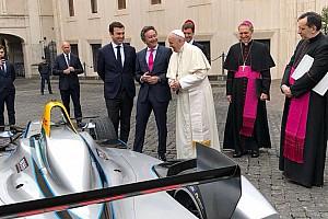Формула E Новость Формула E приехала в гости к Папе Римскому