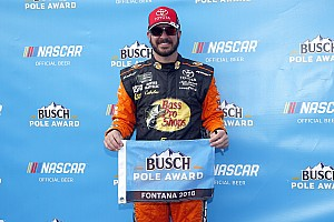 NASCAR Cup Qualifying report Martin Truex Jr. takes Fontana pole, 13 cars fail to pass inspection