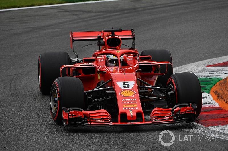 Monza, Libere 3: Vettel in fuga con la Ferrari, Hamilton a un soffio con la Mercedes