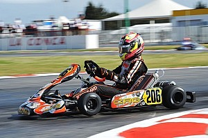 Kart Race report Hiltbrand wins second European Championship round amid last-lap chaos
