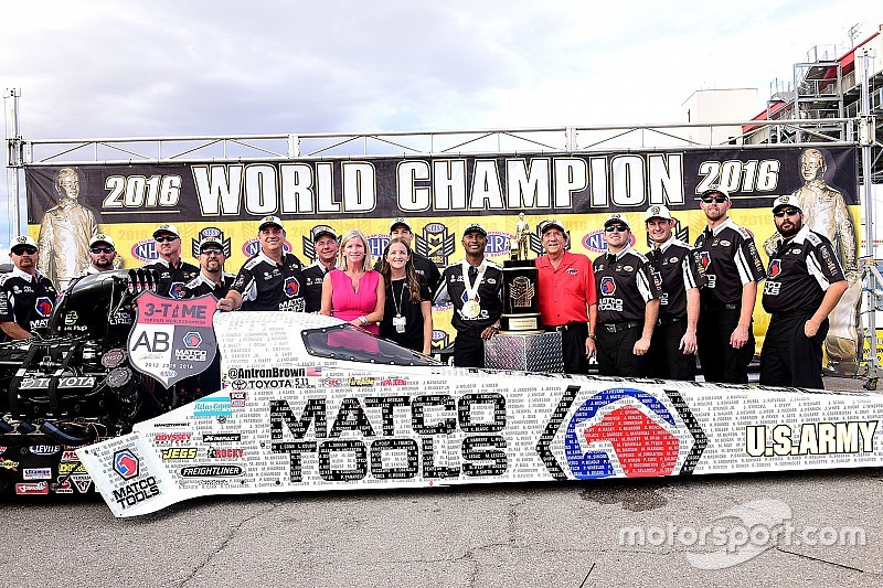 """Brown says his team is """"one of the best in NHRA history"""""""
