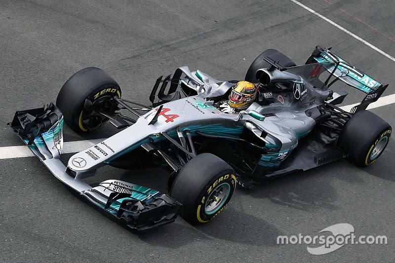 Formel 1 2017 in Silverstone: Lewis Hamilton knapp vor Sebastian Vettel