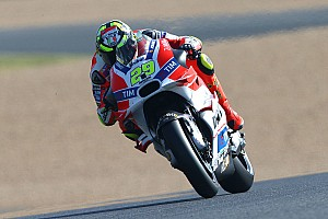 MotoGP Qualifying report Front row start for Iannone in French GP qualifying with third on the grid