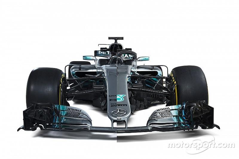 Comparaison entre les Mercedes F1 W08 et W09