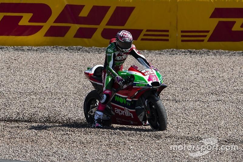 Aleix Espargaró, con un traumatismo torácico, se pierde el Gran Premio de Alemania