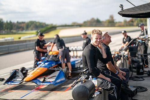 インディカー初テストを終えたヒュルケンベルグ、チームからは高評価「予想通り、全てにおいてかなりハイレベルなドライバー」