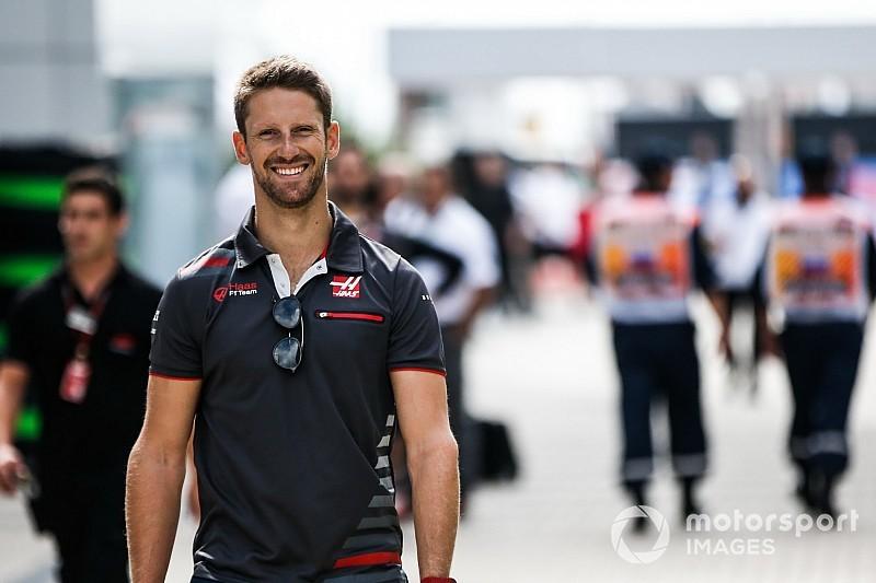 Haas: Grosjean, a riesgo de una carrera de suspensión