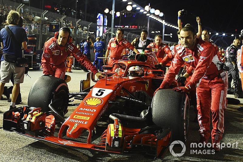 A Ferrari alaposan berendelt a szuperlágy keverékből a Japán GP-re