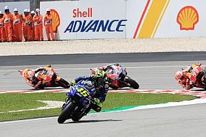 Rossi, galibiyete giderken düşmesinin ardından yıkılmış durumda
