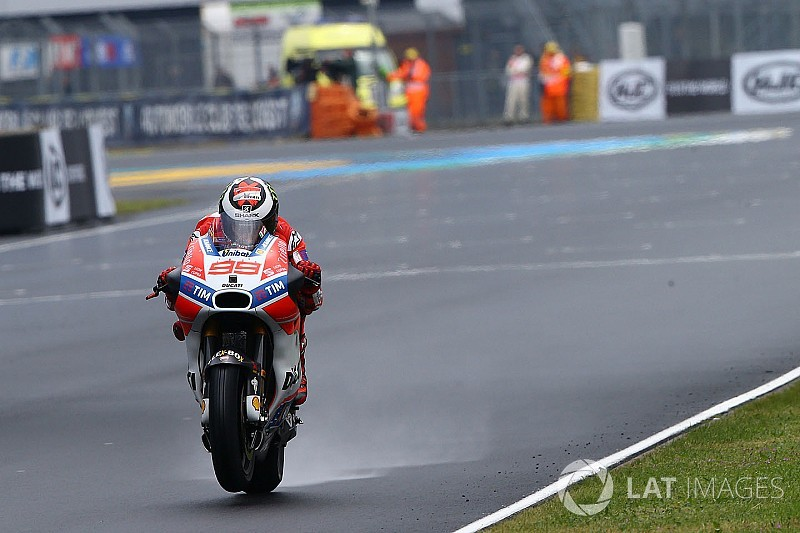 """Lorenzo """"didn't feel safe"""" in wet Le Mans practice"""
