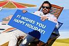 F1 dan Alonso ucapkan selamat berlibur