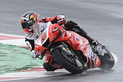 Emilia Romaga MotoGP: Zarco tops wet FP1, Quartararo 18th