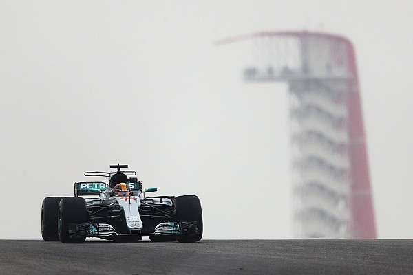 Formula 1 Practice report United States GP: Hamilton leads Vettel in wet-dry FP1