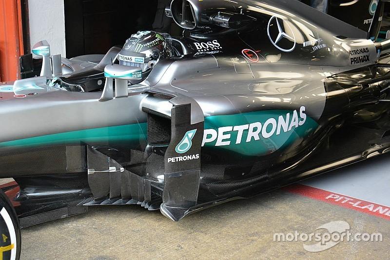 Mercedes испытывает дефлекторы необычной конструкции
