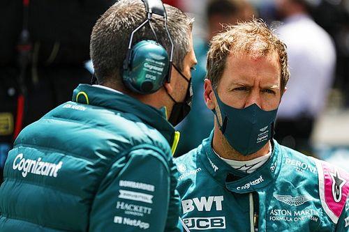 Vettel disfruta con Aston Martin pese a los resultados