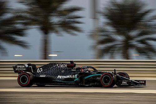 Russell lidera la FP1 del GP de Sakhir en su estreno con Mercedes