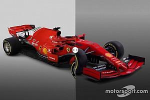 Слайдер: порівняння машин Ferrari 2018 і 2019 років