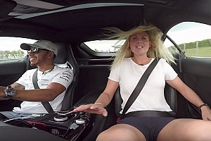 Automotive Breaking news Lewis Hamilton gives interviewer ride of her life in AMG GT
