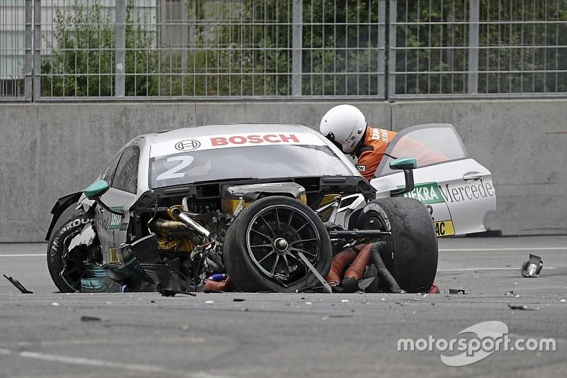 DTM 2017 am Norisring: Schwerer Unfall, Rennen unterbrochen