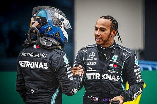 Hamilton: Verschil met Bottas lijkt dit jaar groter door pech