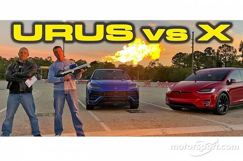Драг-битва: Tesla Model X P100D проти Lamborghini Urus
