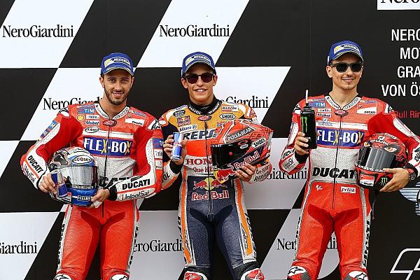 MotoGP De startopstelling voor de Grand Prix van Oostenrijk