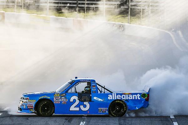 NASCAR Truck Chase Elliott takes Martinsville Truck win after Bell's misfortune