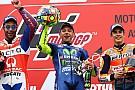 Após vitória, Rossi celebra volta de