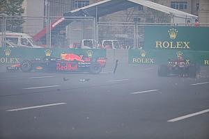 Formule 1 Contenu spécial Vidéo - L'accrochage entre les pilotes Red Bull à Bakou