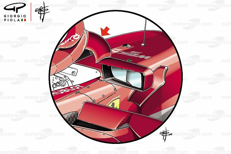 Cómo los espejos de Ferrari se convirtieron en un punto de discusión