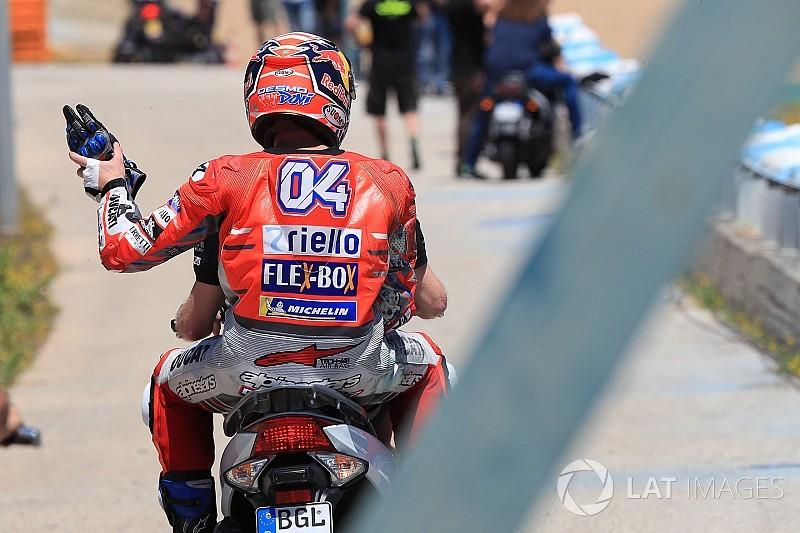 Dovizioso culpa Lorenzo e Pedrosa por queda tripla em Jerez