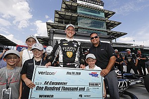 IndyCar Breaking news Carpenter: First lap of Indy 500 pole run