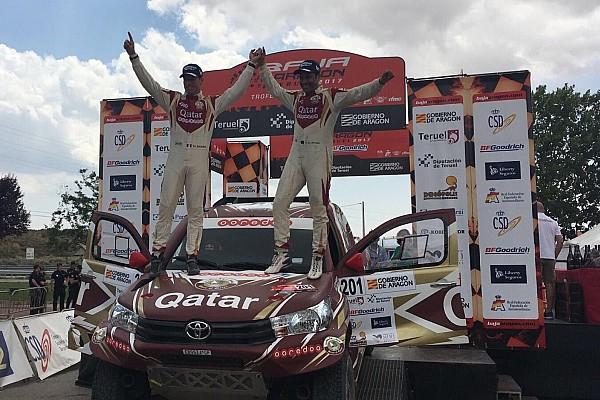 Cross-Country Rally Reporte de la carrera Al Attiyah se llevó el triunfo en la Baja Aragón, seguido de Terranova