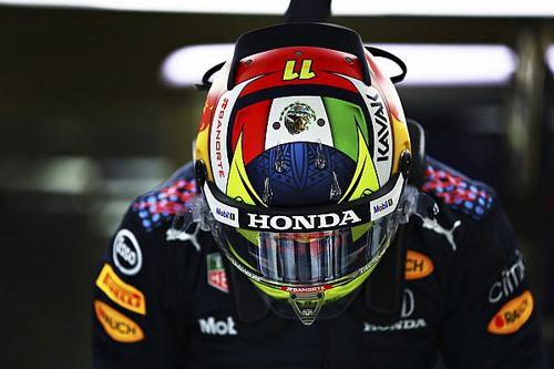 Pérez muestra su primera foto con uniforme de Red Bull y vuelta rápida