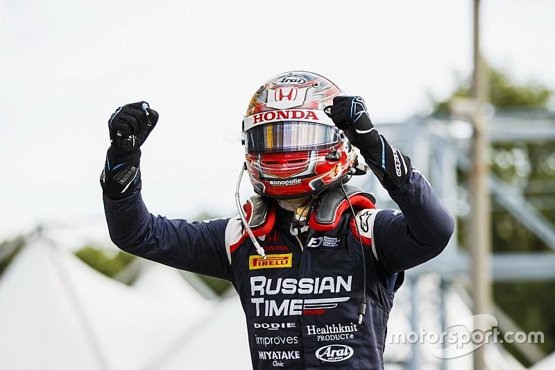 F2初優勝の牧野任祐にチームも感銘「レースごとに確実に成長している」