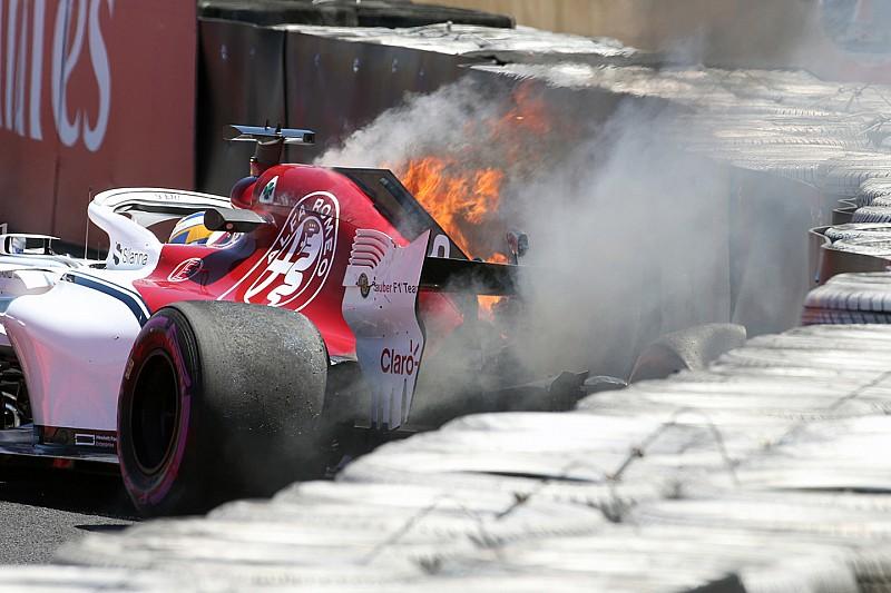 Alfa Romeo-Sauber: Ericsson non girerà nelle Libere 2. Troppi i danni sulla C37 andata in fiamme