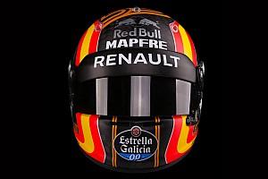 Формула 1 Новость Сайнс показал новый шлем. Логотипы Red Bull остались
