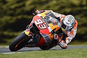 MotoGP Prove libere Phillip Island, Libere 4: Marquez detta il ritmo, Dovizioso cade