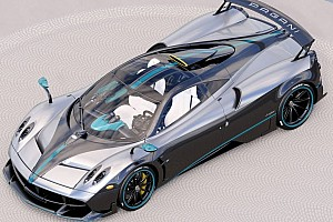 Automotive Breaking news Last Pagani Huayra Coupe to wear Lewis Hamilton's F1 car livery