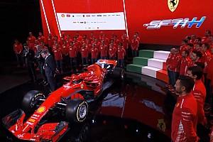 Формула 1 Новость Видео: как новую Ferrari обклеивают логотипами спонсоров