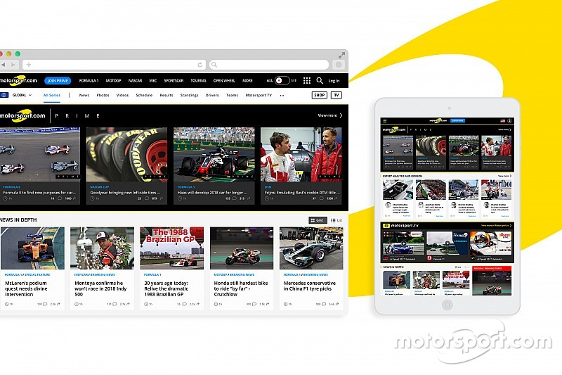 Motorsport.com muda design e funcionalidade do site