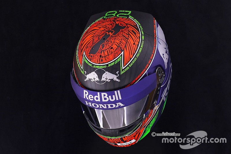 Photos - Le casque de Brendon Hartley pour Monaco