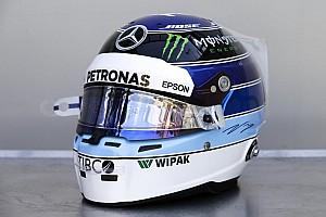 Bottas homenajea a Hakkinen con su casco para Mónaco