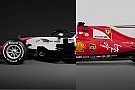 Comparación: Ferrari 2017 con el Haas 2018