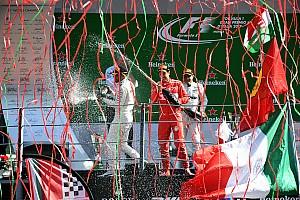 Formel 1 Feature Die Geschichte zum Bild: Luftschlangen auf dem F1-Podium in Monza