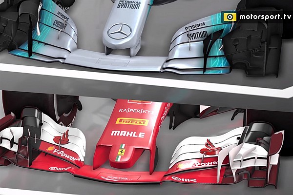 Formula 1 Analysis Video analysis: How the Mercedes and Ferrari F1 concepts differ