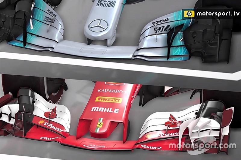 Análisis en video: los diferentes conceptos de Mercedes y Ferrari