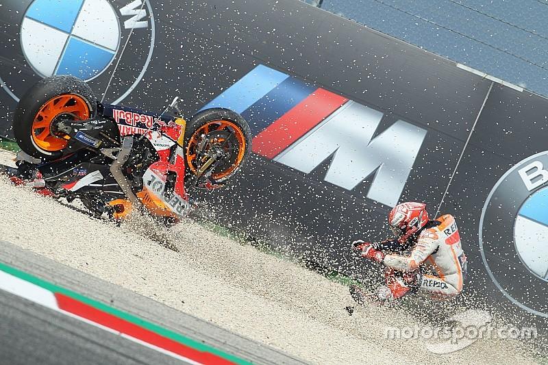 Campeão, Márquez termina ano como quem mais caiu na MotoGP