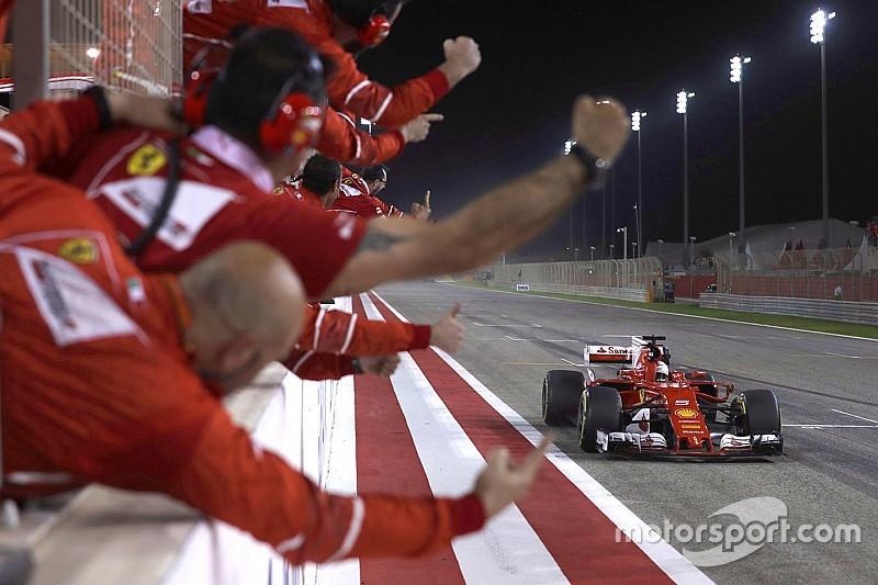 Vettel wint in Bahrein, Verstappen crasht uit de race