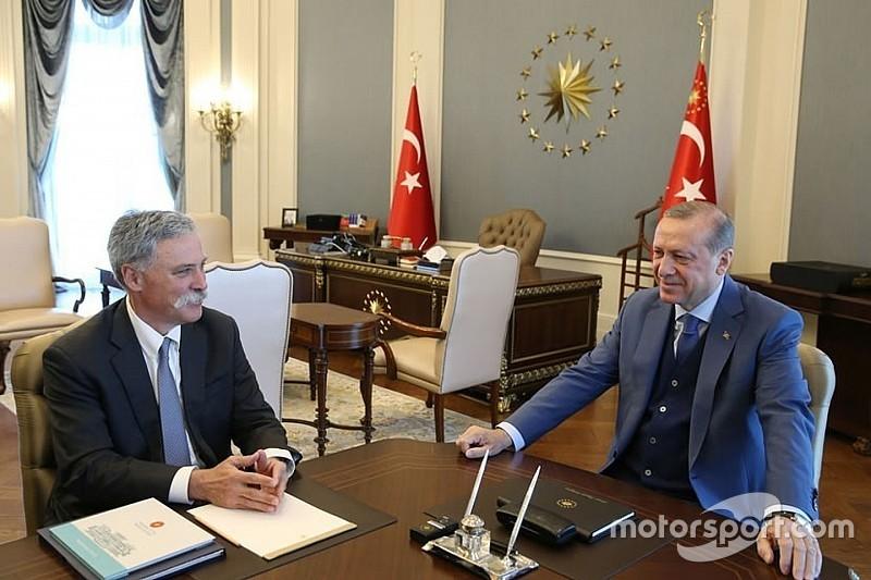凯利会面土耳其总统,F1回归达成共识